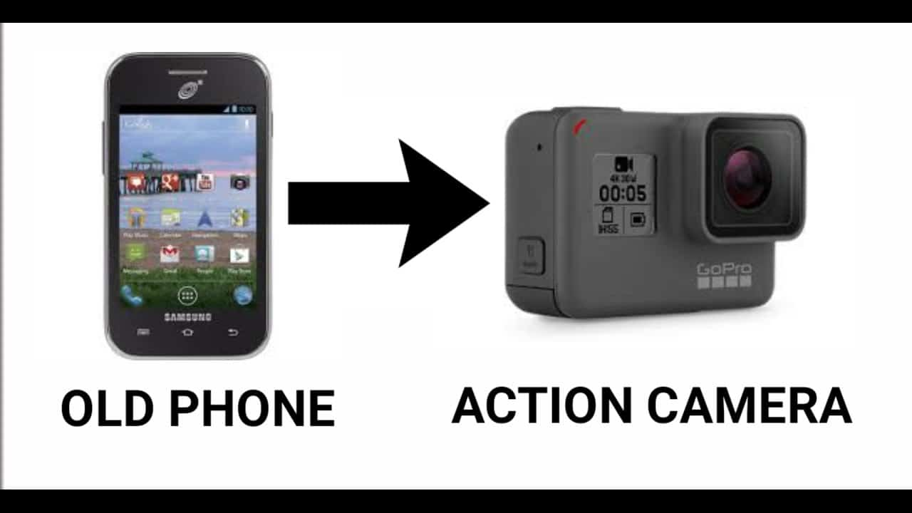 Old phone to action camera
