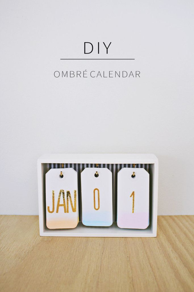 Ombre tag calendars