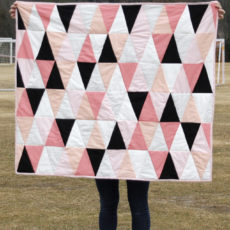 Ombre triangles quilt