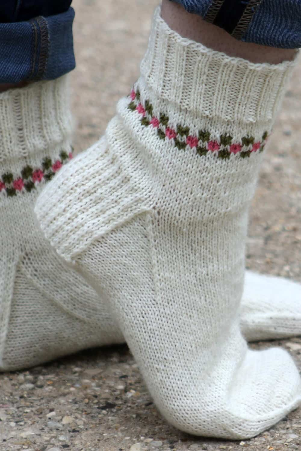 Pansy path socks