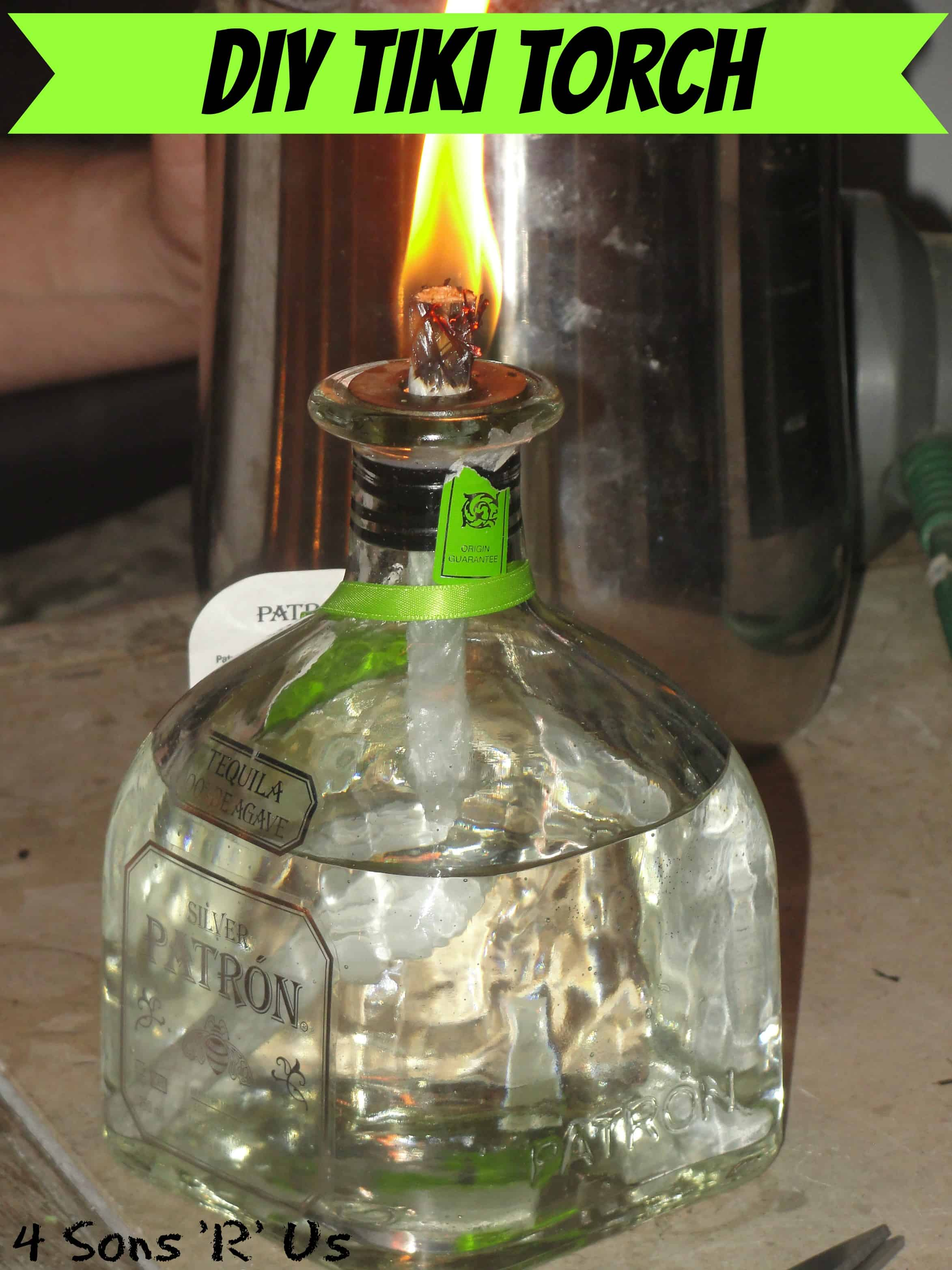 Patron bottle torch