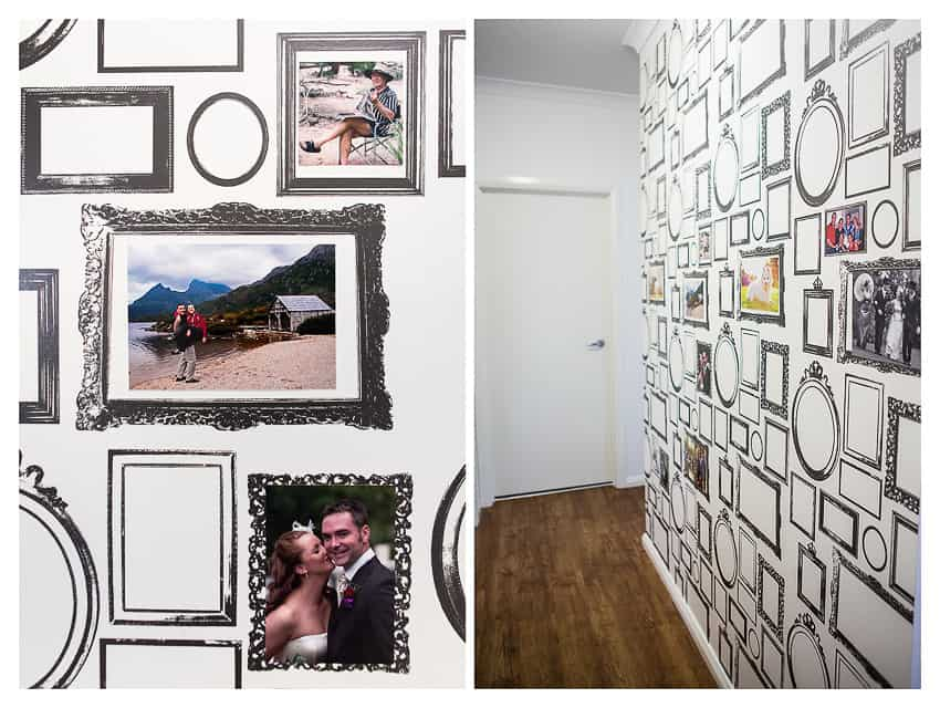 Photo frame wall paper