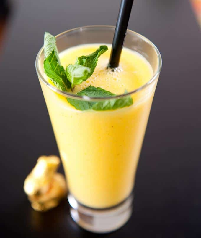Pineapple ginger and mint juice