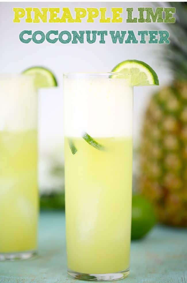 Pineapple lime coconut water