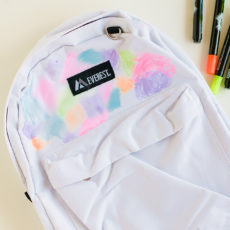 Rainbow watercolour backpack