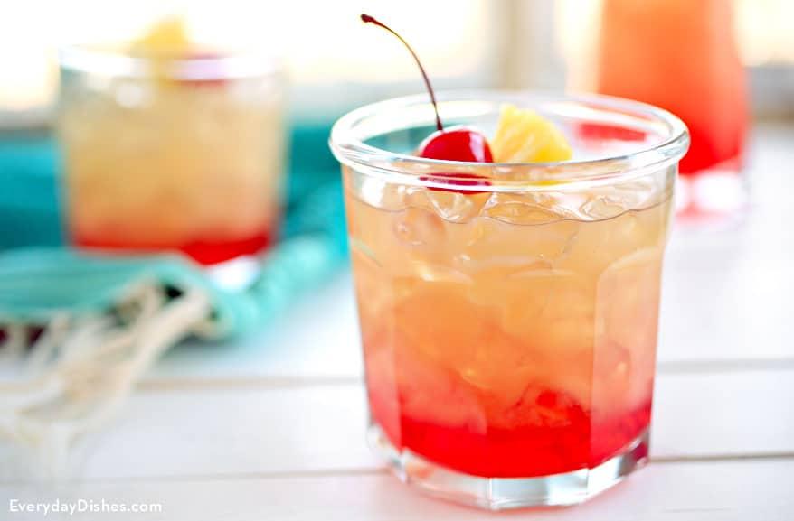 Refreshing cherry pineapple lemonade