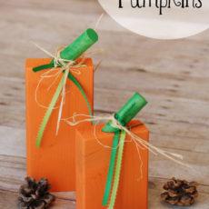 Simple 2x4 pumpkins
