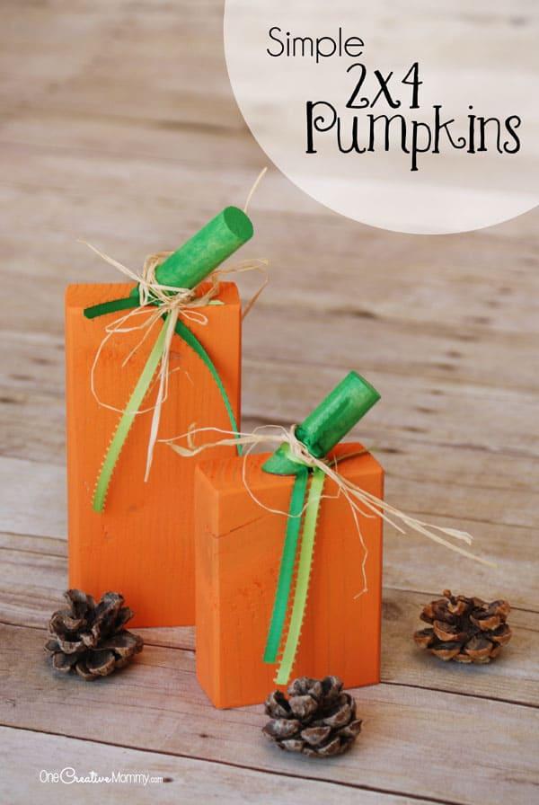 Simple 2×4 pumpkins