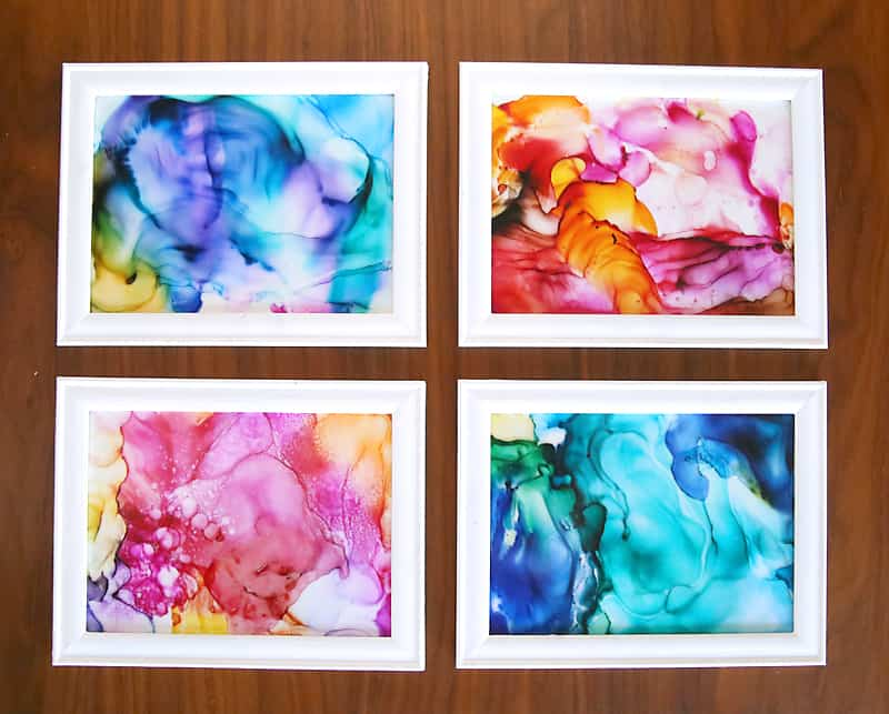 Stunning fired alcohol ink wall art