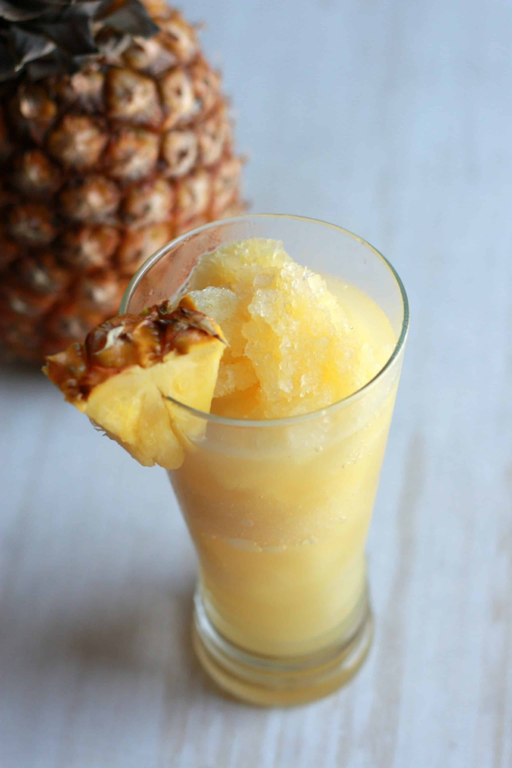 Sweet pineapple slush