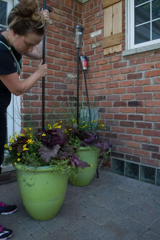 Tiki torch planters