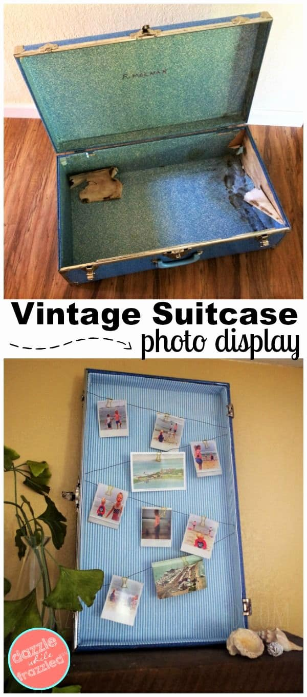 Home diy ideas turn a vintage suitcase into diy display