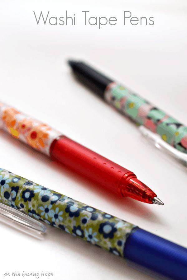 Washi tape pens