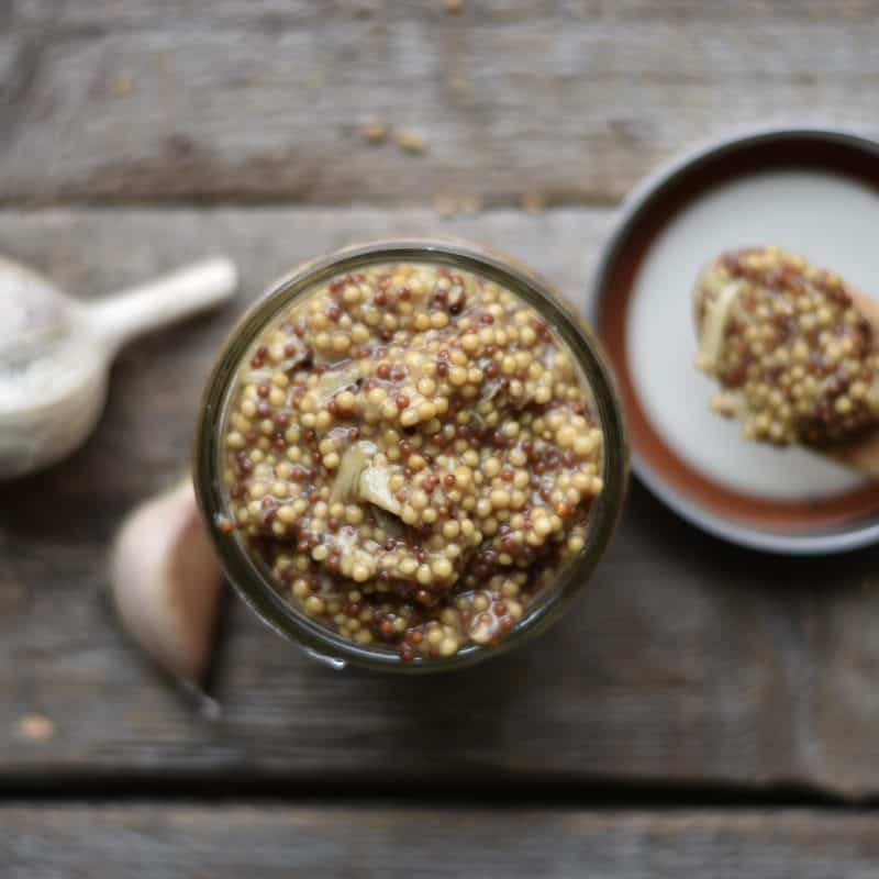 Whole grain roasted garden mustard