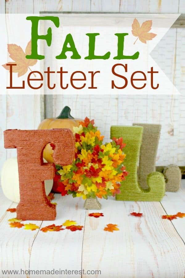Wrapped fall letter set