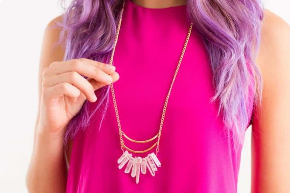 Diy quartz necklace