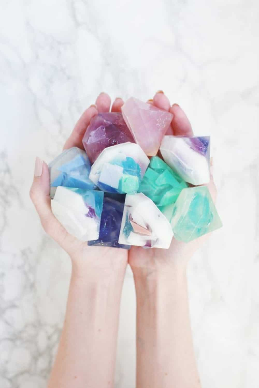 Gemstone soap diy