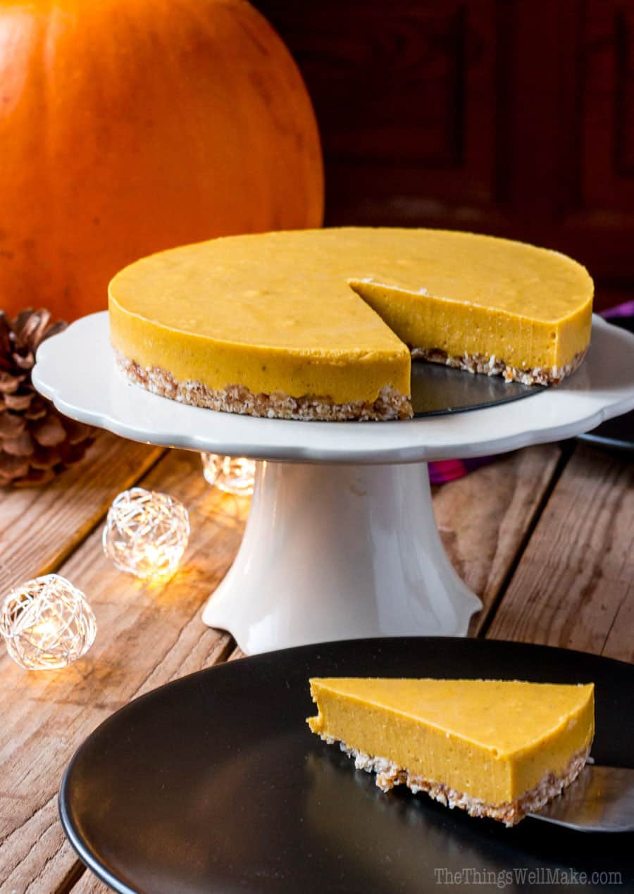 No bake paleo pumpkin pie