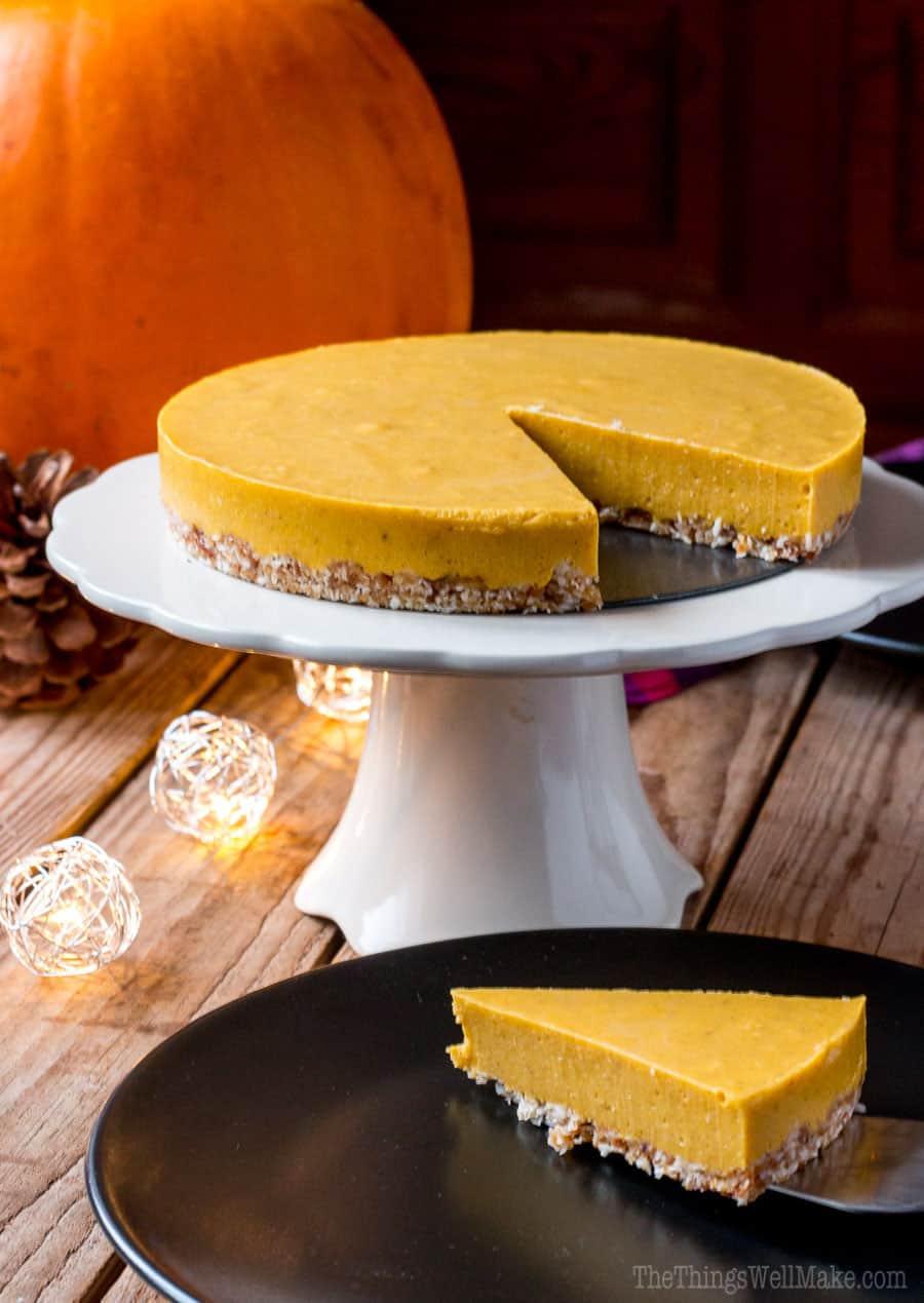 No bake paleo pumpkin pie