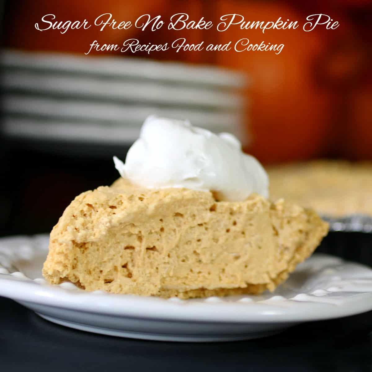 Sugar free pumpkin pie no bake