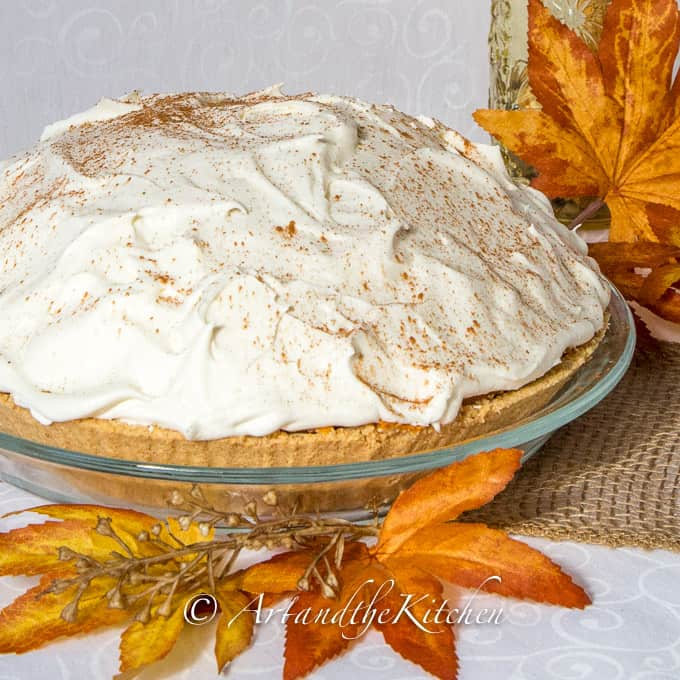 Triple layer no bake pumpkin pie