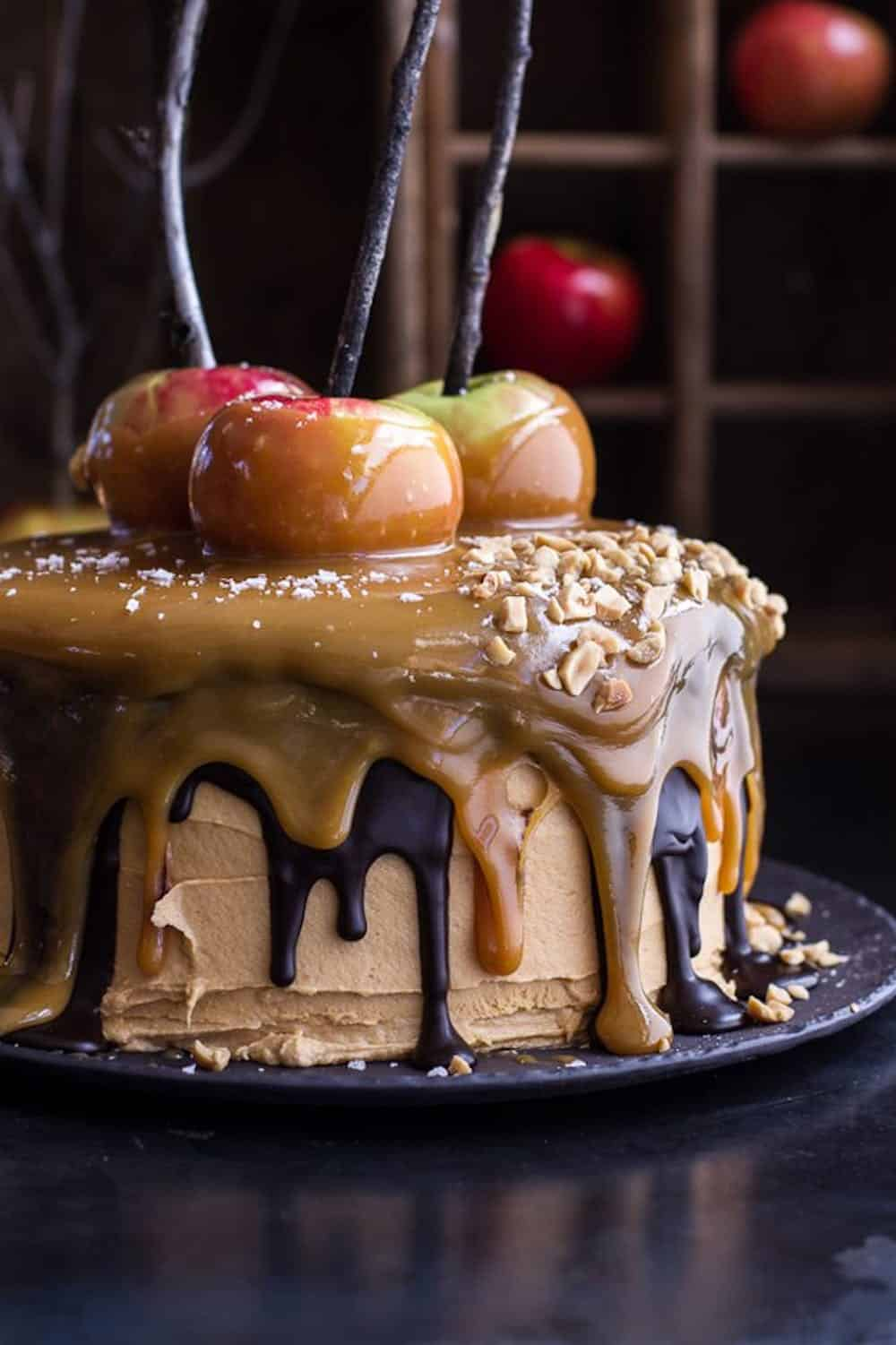 Salted caramel apple snickers cake 61 645x968
