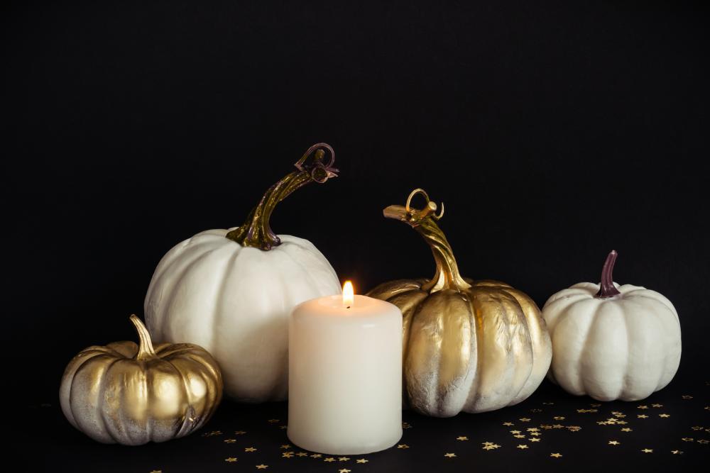 White pumpkin decor ideas