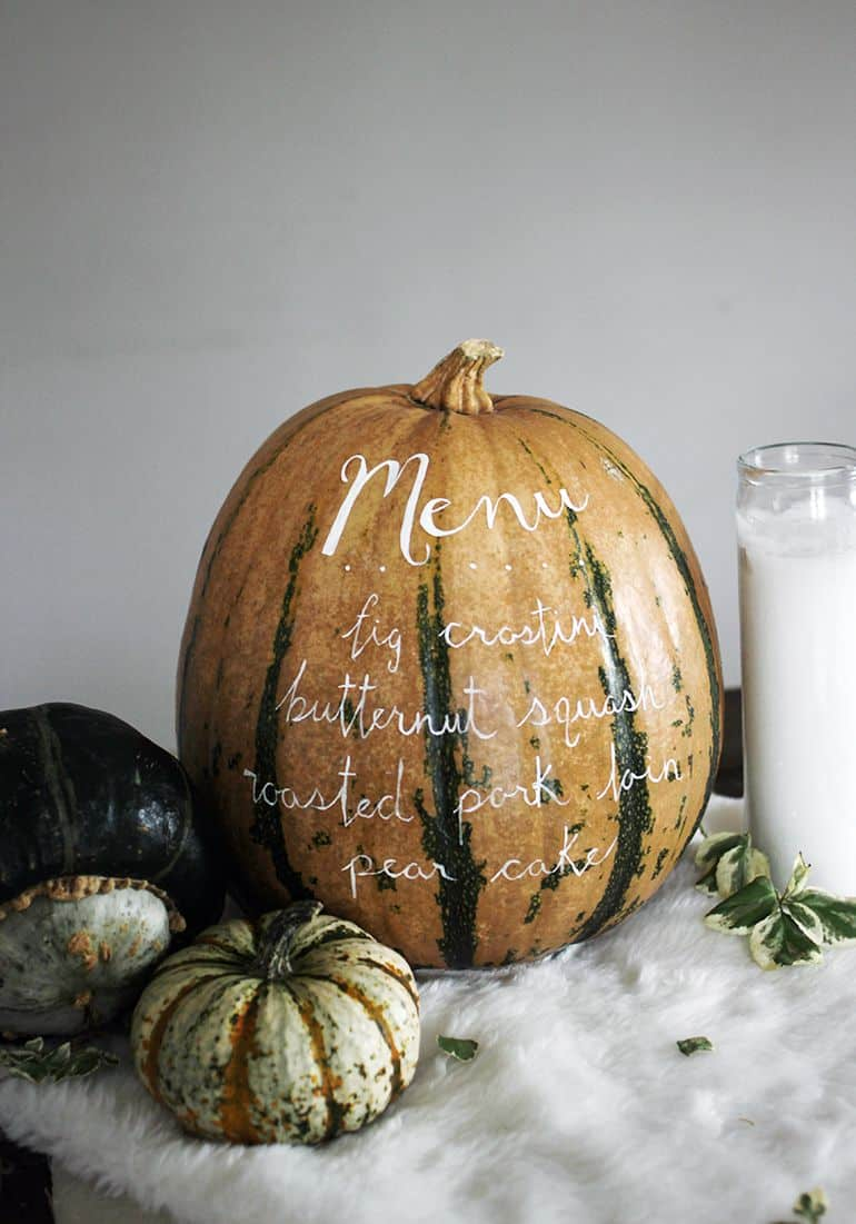 Diy menu pumpkin