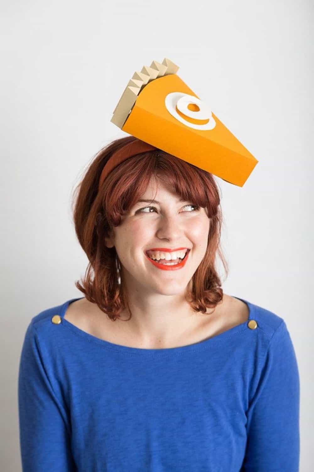 Diy pumpkin pie hat