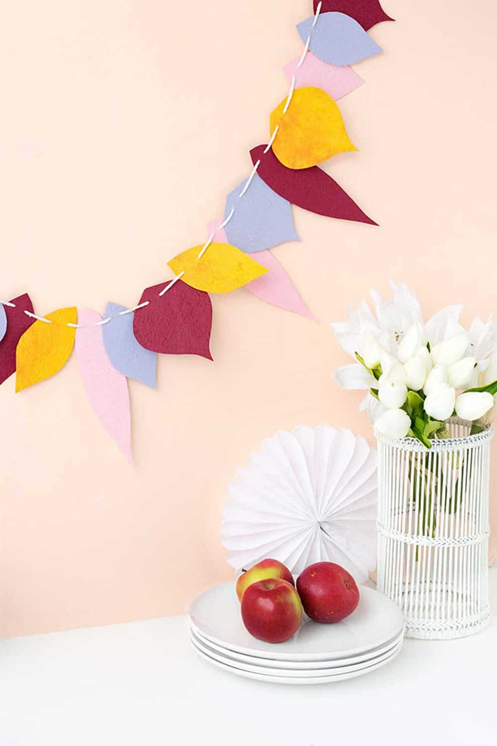 Fall leaf garland make tell