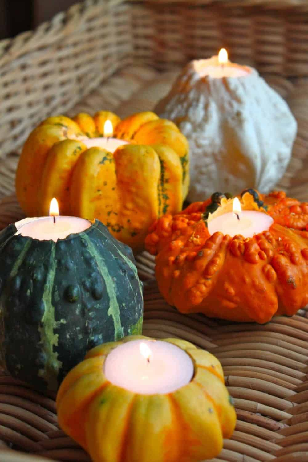 Gourd candle holder diy