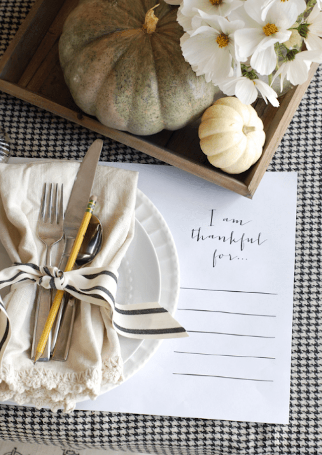 I am thankful for diy placemats