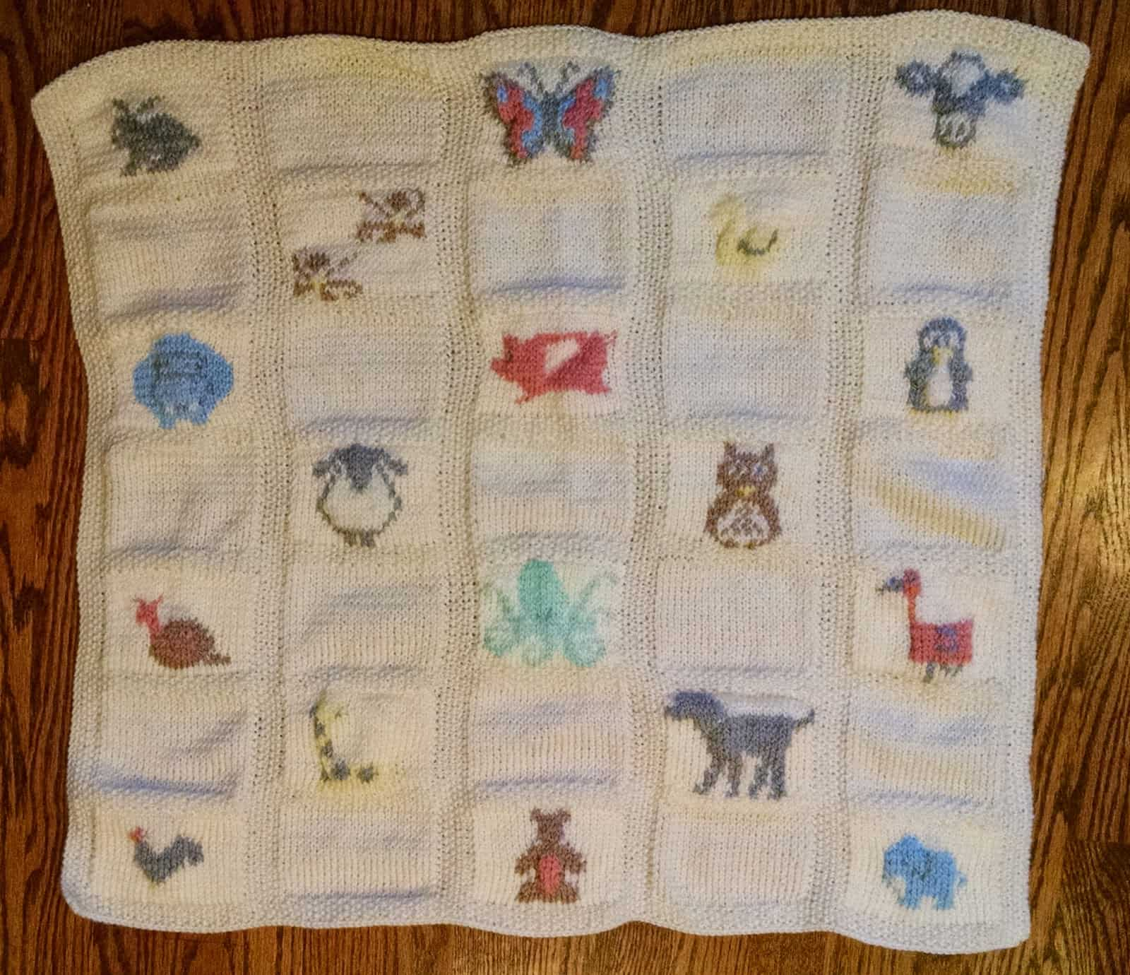 Animal parade baby blanket