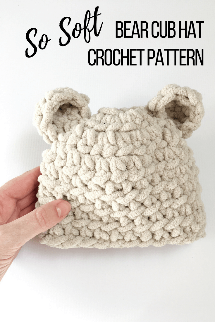 Baby bear hat crochet pattern