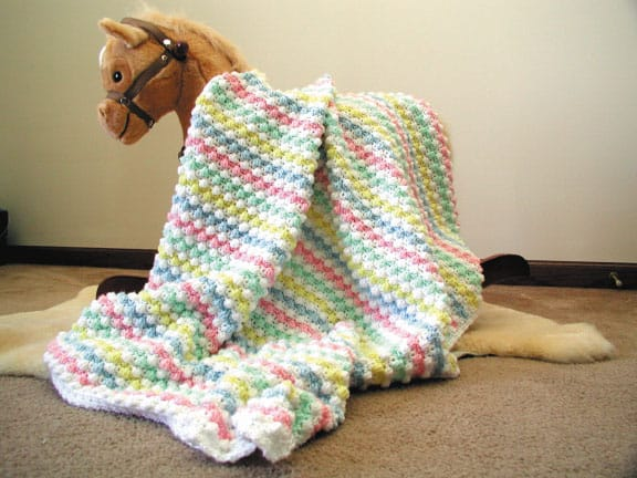 Baby bubbles afghan