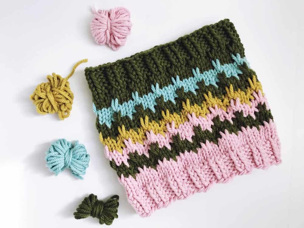 Bargello cowl scarf pattern