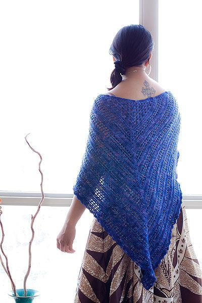 Beaded crochet shawl