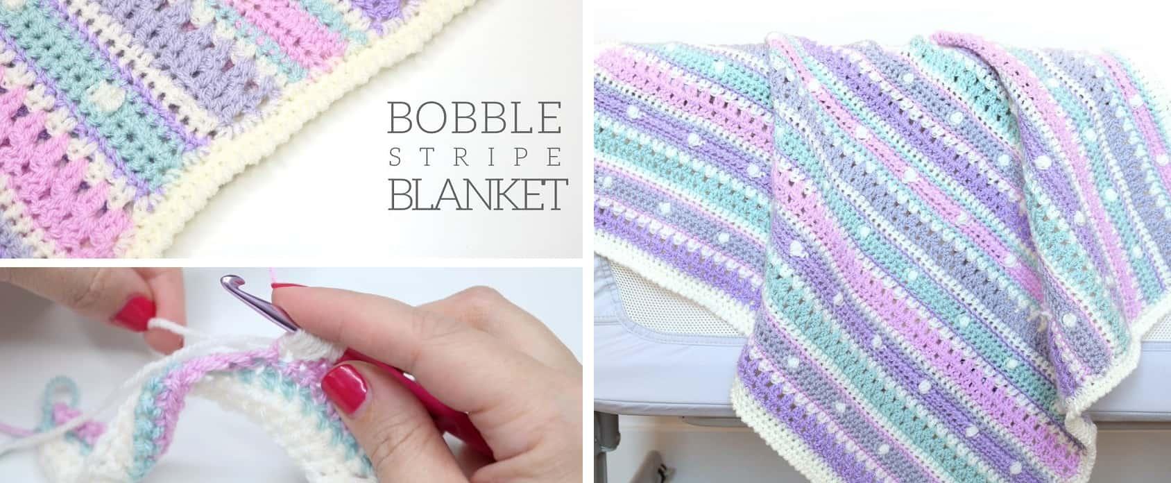 Bobble stripe blanket