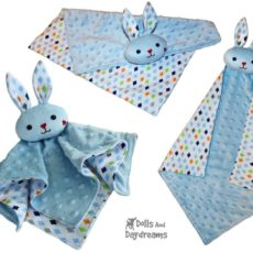 Bunny grow with me baby blanket