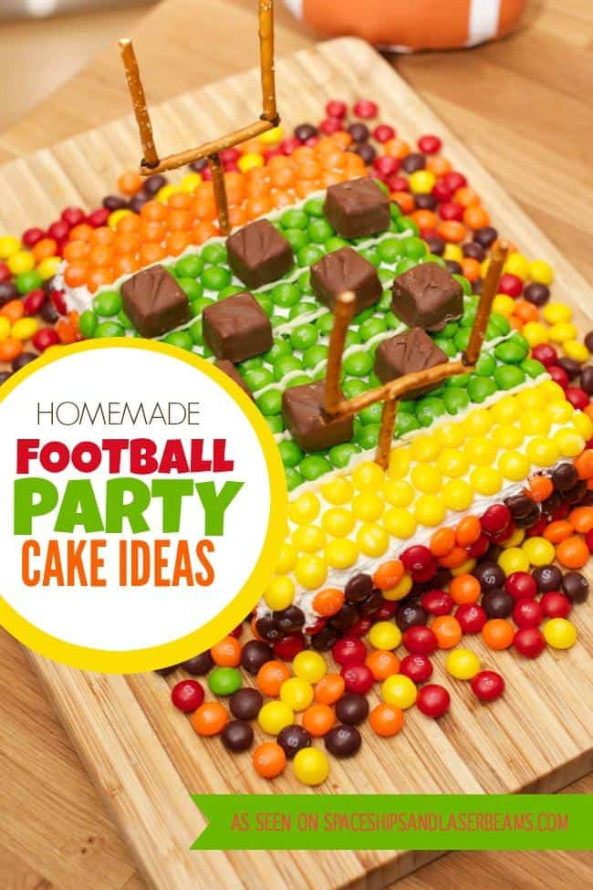 Candy football game cake