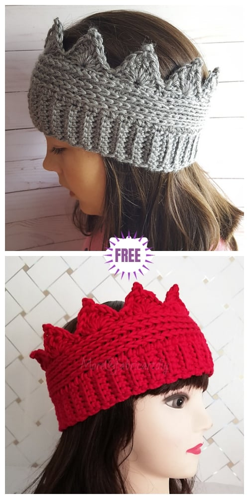 Crochet crown ear warmer