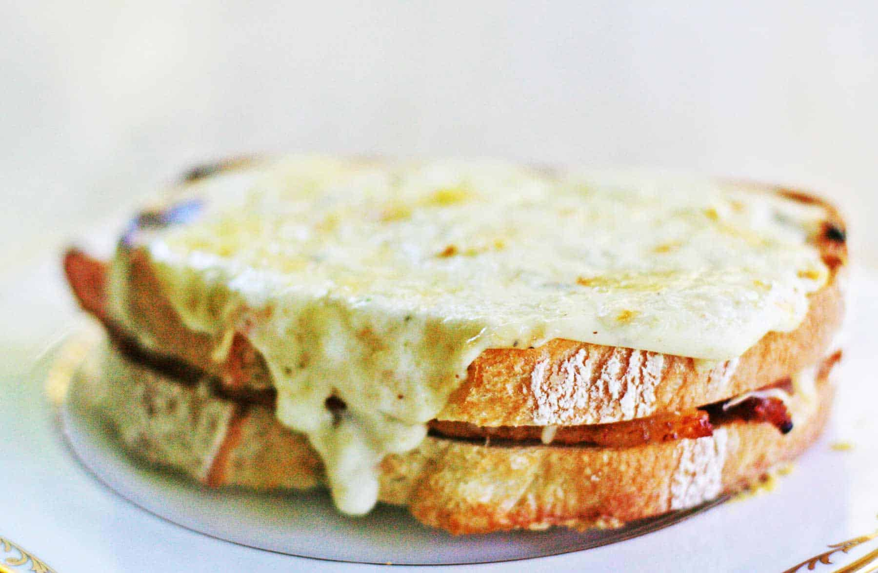 Croque monsieur with homemade beschamel sauce