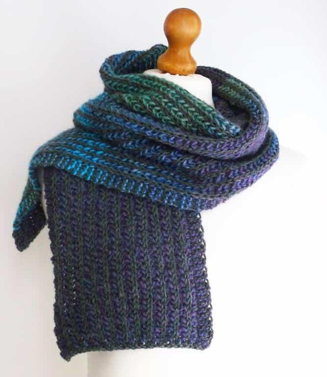 Easy brioche scarf