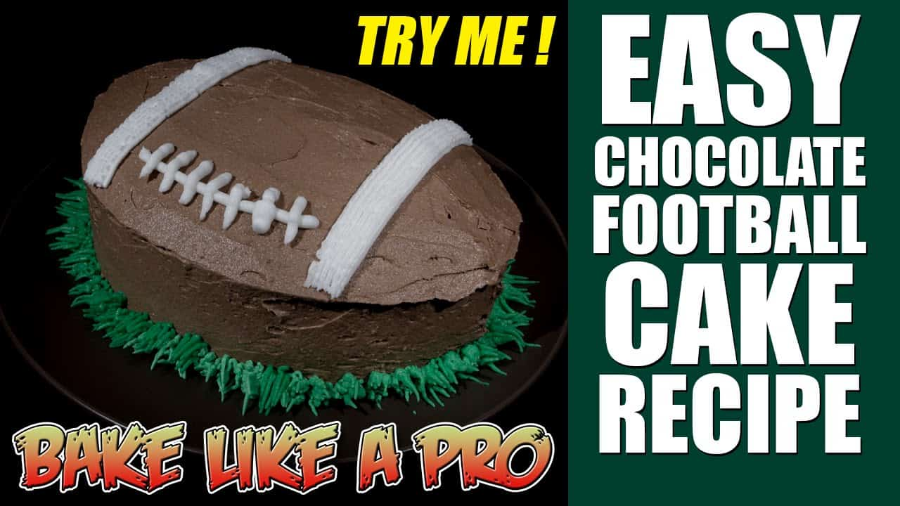 Easy angeled football cake