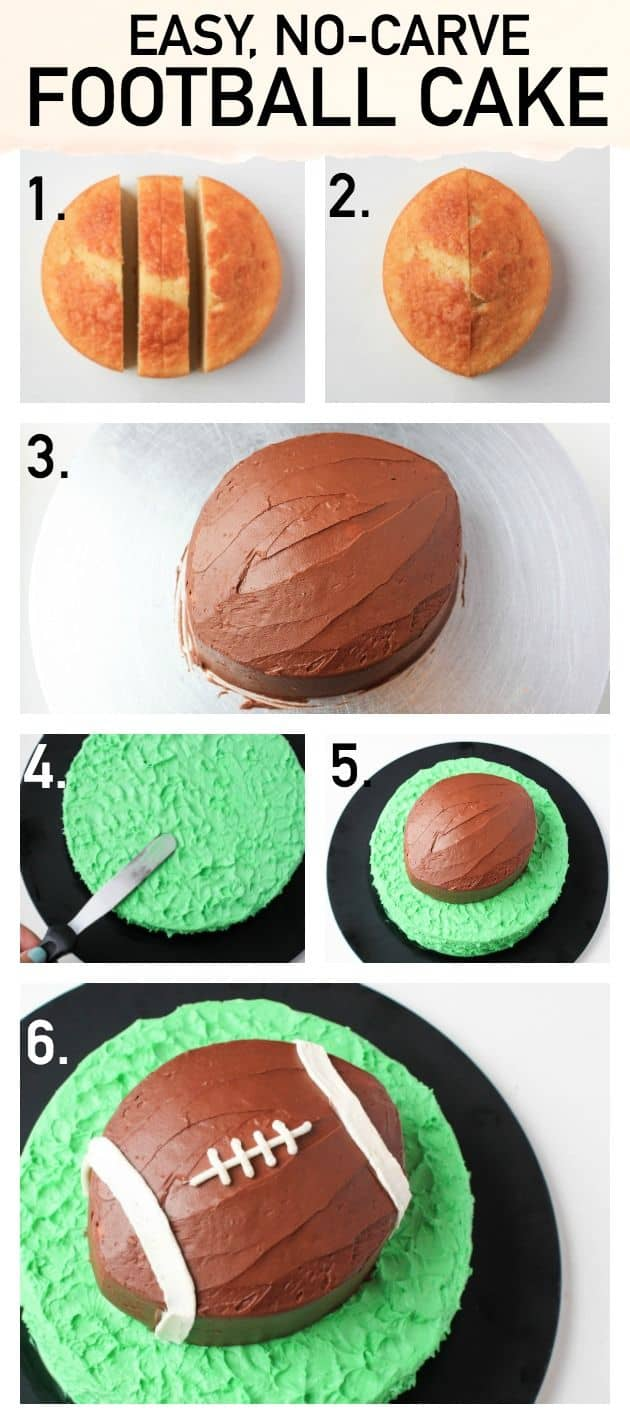Easy no carve football cake