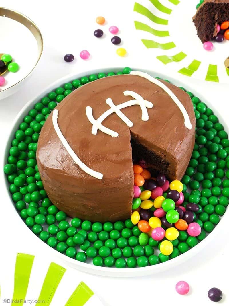 Football surprise cake