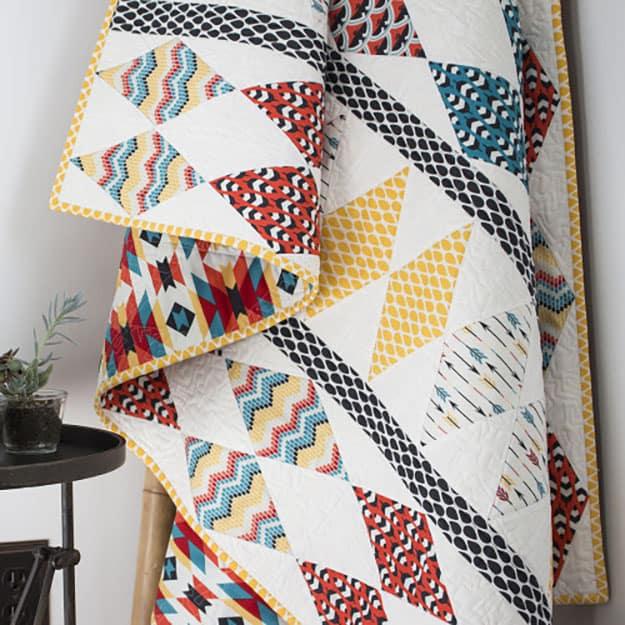 Free quilt pattern aztec design