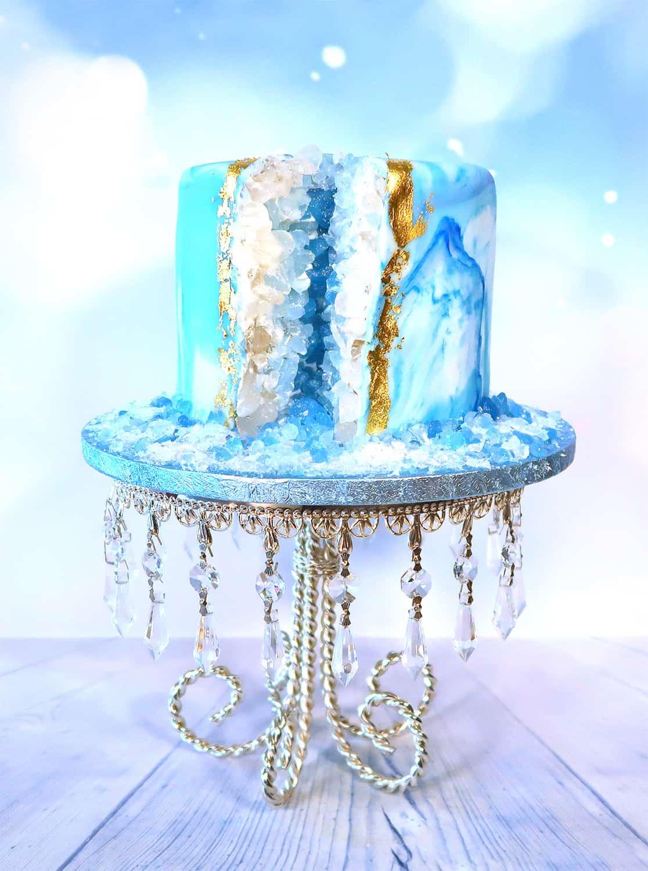 Full slice geode cake