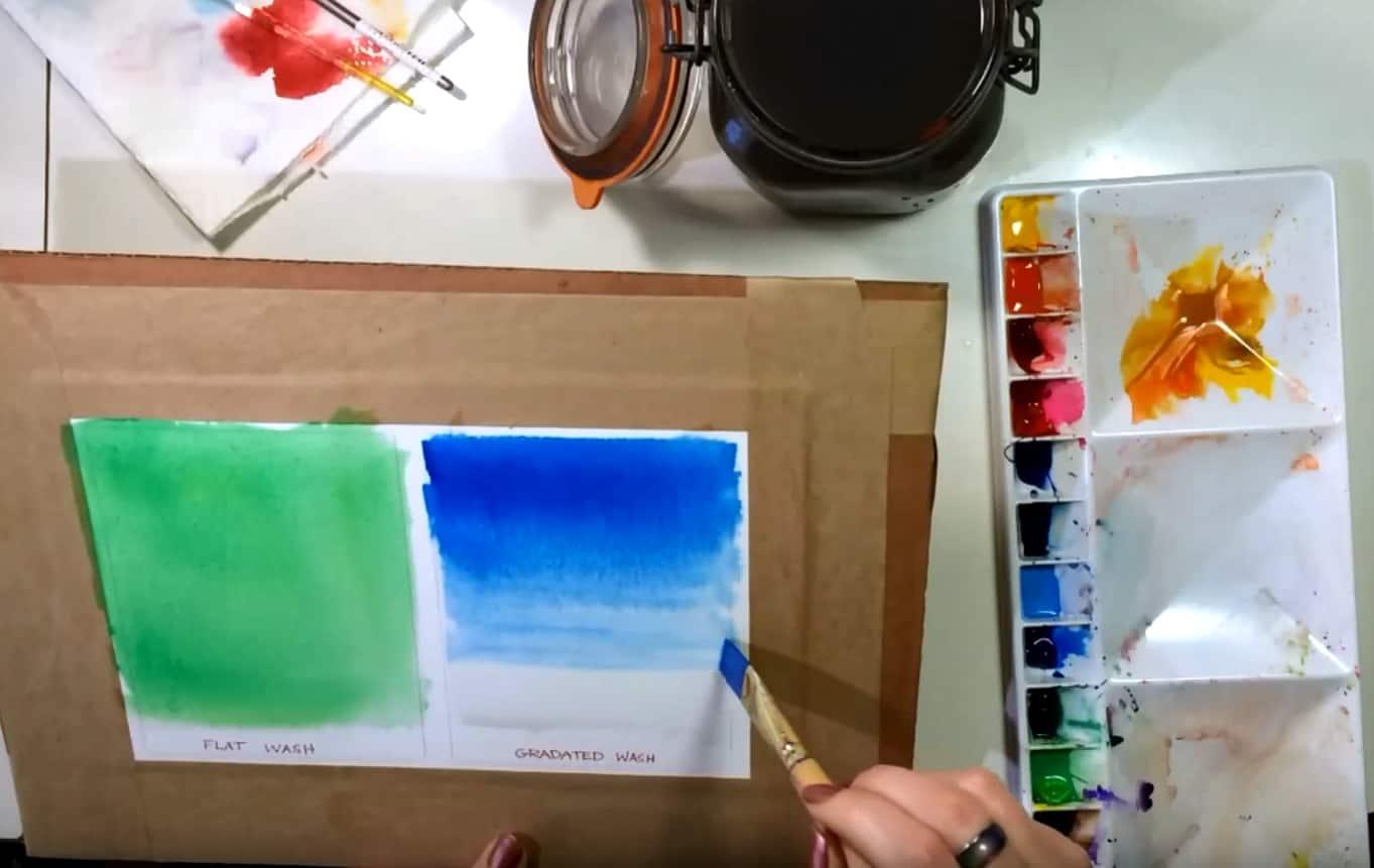Gradated wash technique