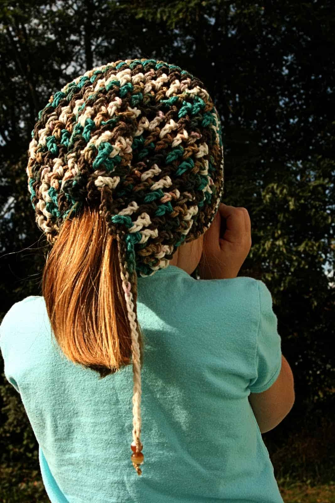 Headhuggers ponytail slouch hat by vallies kids
